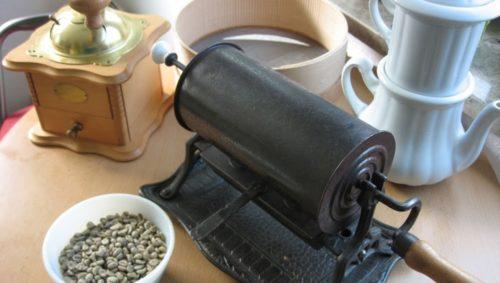 Utensilien zur Kaffeezubereitung