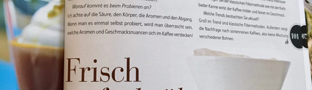 Interview in das schmeckt! vom Burda Verlag