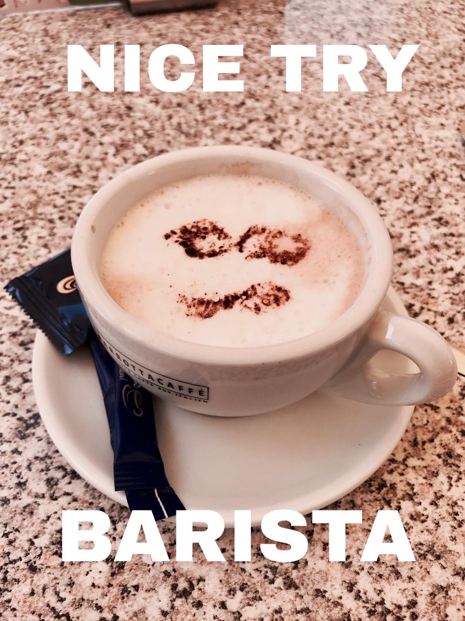 Nur der Wille zählt - Cappuccino Kunst
